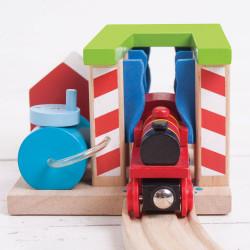 Wasstraat voor treinen