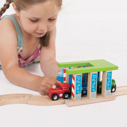 Wasstraat voor treinen - beschadigde doos