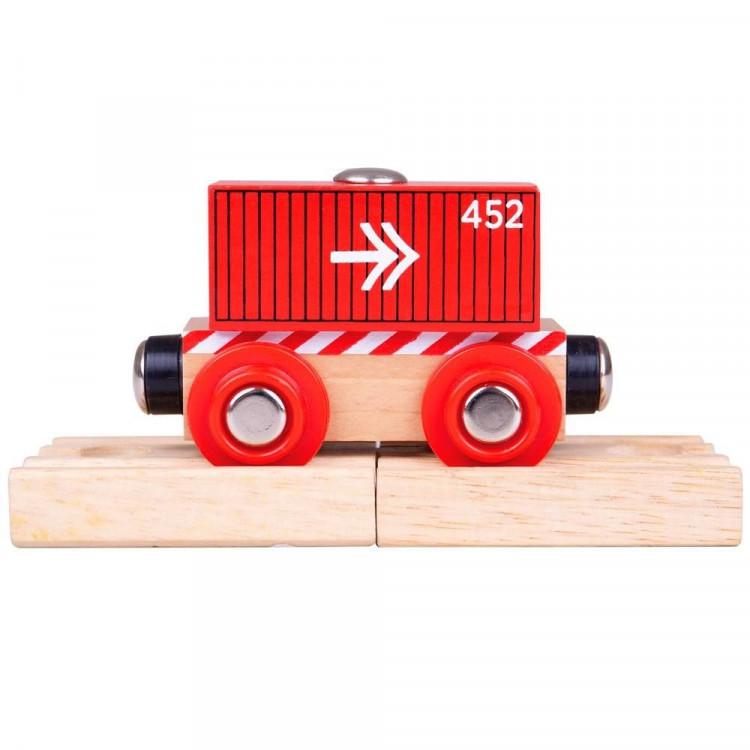 Containerwagon rood