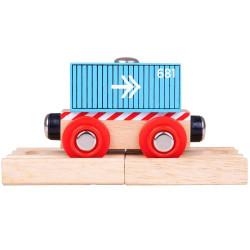 Containerwagon blauw