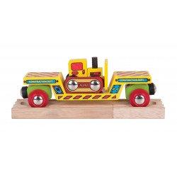 Wagon met bulldozer