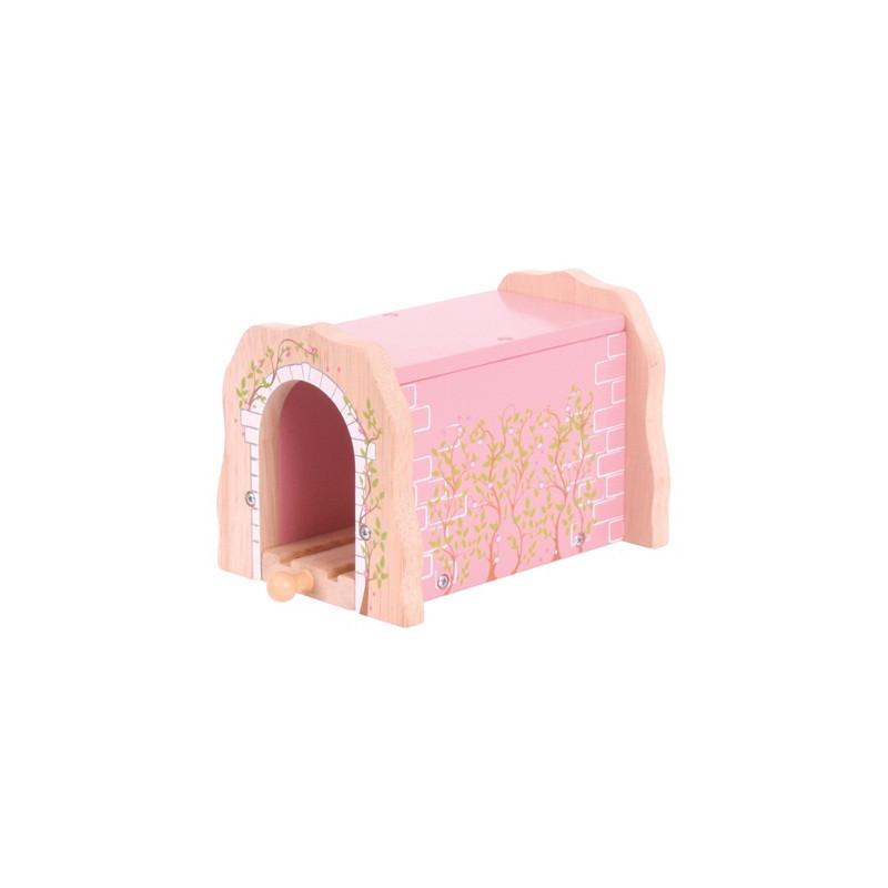Roze trein tunnel