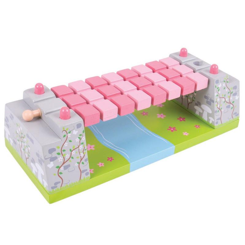 Roze touwbrug