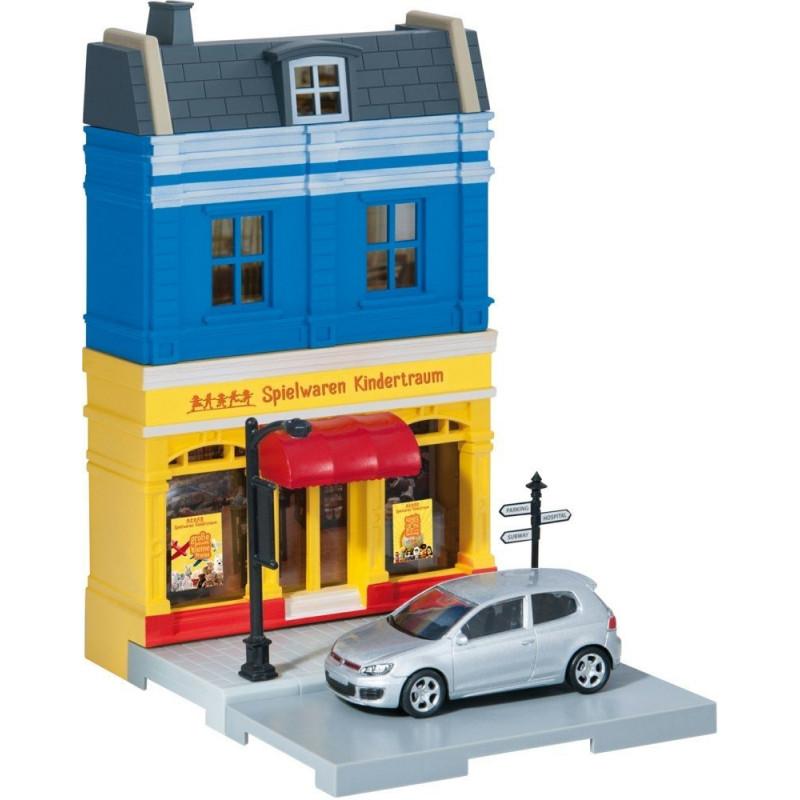 Herpa City Speelgoedwinkel + VW Golf GTI