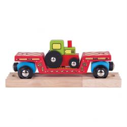 Wagon met traktor