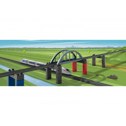 Set bouwstenen spoorwegbrug